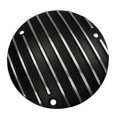 Kupplungsdeckel schwarz gerippt für Harley Davidson Big Twin ab 1970