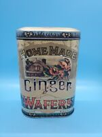 """Made in England Daher Tin Homemade Ginger Wafers Famous Biscuits 5.5"""""""