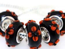 5X handmade silver Murano Lampwork Glass Beads for European Charm Bracelet L56