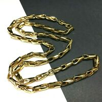 """Vintage Couture GIVENCHY Fancy Link Necklace Shiny Gold PL 30"""" MINT Cond WW114ZR"""