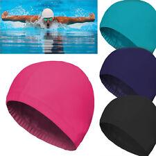 4X Easy Fit Adult Swimming Hat Cap Swim Mens Womens Unisex Nylon Spandex Fabric