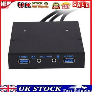 """3.5"""" 20Pin to 2 USB 3.0 Port HUB + HD Audio PC Floppy Expansion Front Panel"""