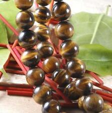 50 Perles Boule Ronde 8mm Pierre Naturelle Semi Précieuse Oeil de Tigre