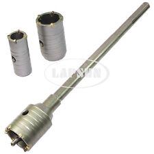 30mm 40 50mm Wall Impact Drill Bit Hole Saw Set + Long SDS Max Core Shaft Arbor