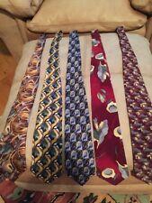 J Garcia  Lot of 5 100% Silk Men's Ties Jerry Garcia Assorted Designs Colors