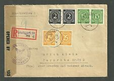 Military Censorship Civil Mail 1947 German Cover Passed 41037 Stamps