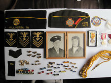 Military Pins Medals Patches WWII Jacket Photo Family Collection Tennesee