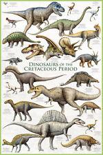 Dinosaurs - Cretaceous Period Poster Print, 24x36