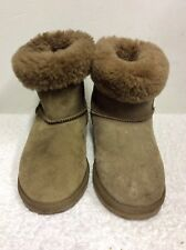 EMU STINGER LO LIGHT BROWN SHEEPSKIN FUR LINED ANKLE BOOTS SIZE 6/39 COST £150