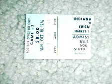 1976 Chicago Bulls v Indiana Pacers Preseason Basketball Ticket 10/10