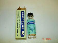 Vintage Compound W Box & Bottle 2 1/2 Fluid Drams