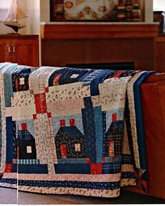 Summer Cabins Quilt Pattern Pieced LS