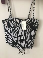 New Heaven Ladies Black And White Summer Bralet Size 12