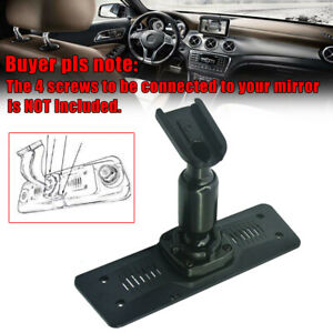 1× Car Interior Rearview Mirror Back Plate Panel Mounting Bracket DVR Accessory