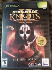 Star Wars: Knights of the Old Republic II The Sith Lords Xbox TESTED 360 no book