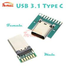 24Pin USB 3.1 Tipo C USB-C Macho Hembra Plug Conector hembra tipo de SMT + tablero de PC