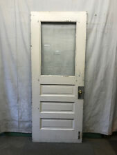 Single Tall Door Interior Glass Architectural Salvage Old School 35-3/4x90 B