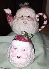 Santa Teapot And Jam Jar