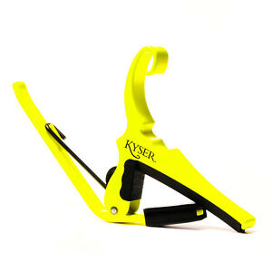 Kyser Guitar Capo - Quick Change - 6-String Acoustic Neon Yellow