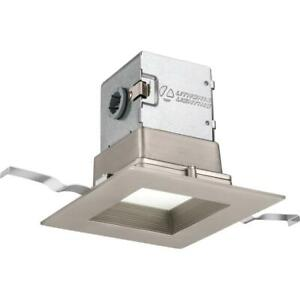 OneUp Square 4 in. Brushed Nickel Integrated LED Recessed Kit by Lithonia Lighti