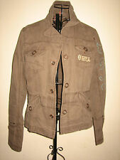 A LOVELY STYLISH WOMEN'S KHAKI ONEILL JACKET SIZE MEDIUM PIT-PIT APPROX 18 INCH
