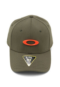 Oakley Men's Novelty Tin Can Cap Dark Brush L/XL - Metal Ellipse Logo - Stunner