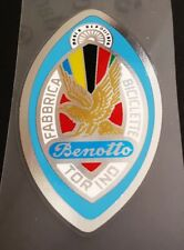 Benotto Head Badge - True Chrome Background (sku 10737)