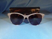New Lulu Guinness L119 Sunglasses Black/White Plastic/Metal Frame 56-15-135