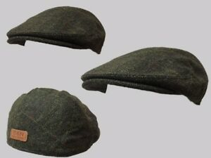 GREEN CHECK WOOL FLAT CAP,CLOTH CAP,GOLF CAP WINDSOR FLAT CAP FARMER,CABBIE HAT,