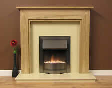 "NEW ENGLISH MADE CHELFORD FIRE SURROUND 48"" WIDE NATURAL OAK"