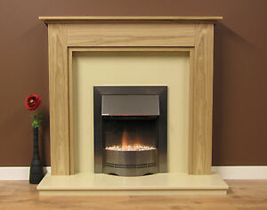 """NEW ENGLISH MADE CHELFORD FIRE SURROUND 48"""" WIDE NATURAL OAK"""