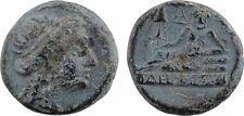 Grèce, Thrace, Odessos (Odesiton), bronze AE14, Zeus allongé, patine - 41