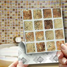 18 mosaico de piedra Pegar En Auto Adhesivo Pegatinas Azulejo de la pared para la Cocina & Cuarto De Baño