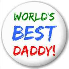 Small 25mm Lapel Pin Button Badge Novelty World'S Best Daddy!