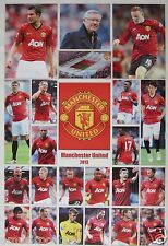 "MANCHESTER UNITED ""2013 PLAYERS, COACH & STADIUM"" POSTER - Soccer, UEFA Football"