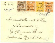 PALESTINE  BRITISH MIL. OCCUP. 1921-4-4   CV   TO  SWITZERLAND      F / VF