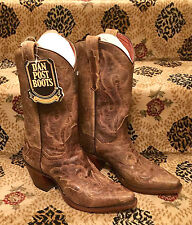 NEW Dan Post El Paso Cowboy Western Leather Boots 7.5  Ladies Womens Cowgirl Lad