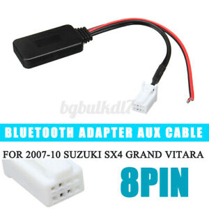 8PIN bluetooth Audio Adapter Aux Cable Fit For Suzuki SX4 Grand Vitara 07-2010