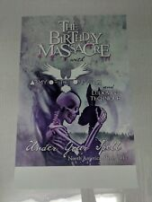 "The Birthday Massacre * Tour 2017 Promo Poster * 11"" x 17"" rare limited"