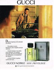 PUBLICITE ADVERTISING 104  1989  GUCCI  parfum pour homme NOBILE