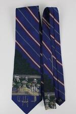 Hand Made. POLO RALPH LAUREN Silk Tie. Blue Stripes w Tennis Match