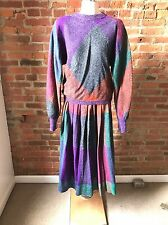 Vintage Missoni Orange Label Skirt Suit Sweater Set Batwing Mohair Graphic 44