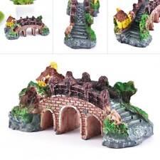 Exquisite Aquarium Resin Coral Reef Boat Castle Bridge Rock Fish Tank Ornament @