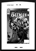 DC Comics BATMAN #498 Rare Large Production Art Cover Kelley Jones BANE CATWOMAN
