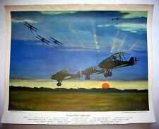 1962 Charles Hubbell Curtiss PW-8 Aviation Print