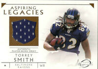 2011 Topps Legends Aspiring Legacies Jersey Torrey Smith RC Baltimore Ravens