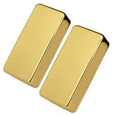Brass Humbucker Pickup Cover No Holes for Electric Guitar Gold Pack of 2