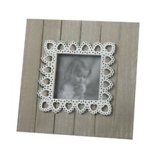 Heaven Sends Natural Wooden Photo Frame With Heart Lace Detail - Friends Gift