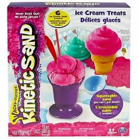 Kinetic Sand Pink Ice Cream Treats Playset Build Moldable Modeling