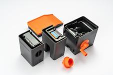 Lab-Box 135&120 Module film developing tank Orange/Black 沖菲林機 橙色/黑色 連轉動曲柄+抽片器